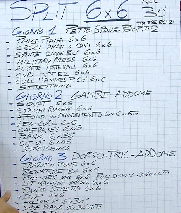 scheda 6x6 programma miletto