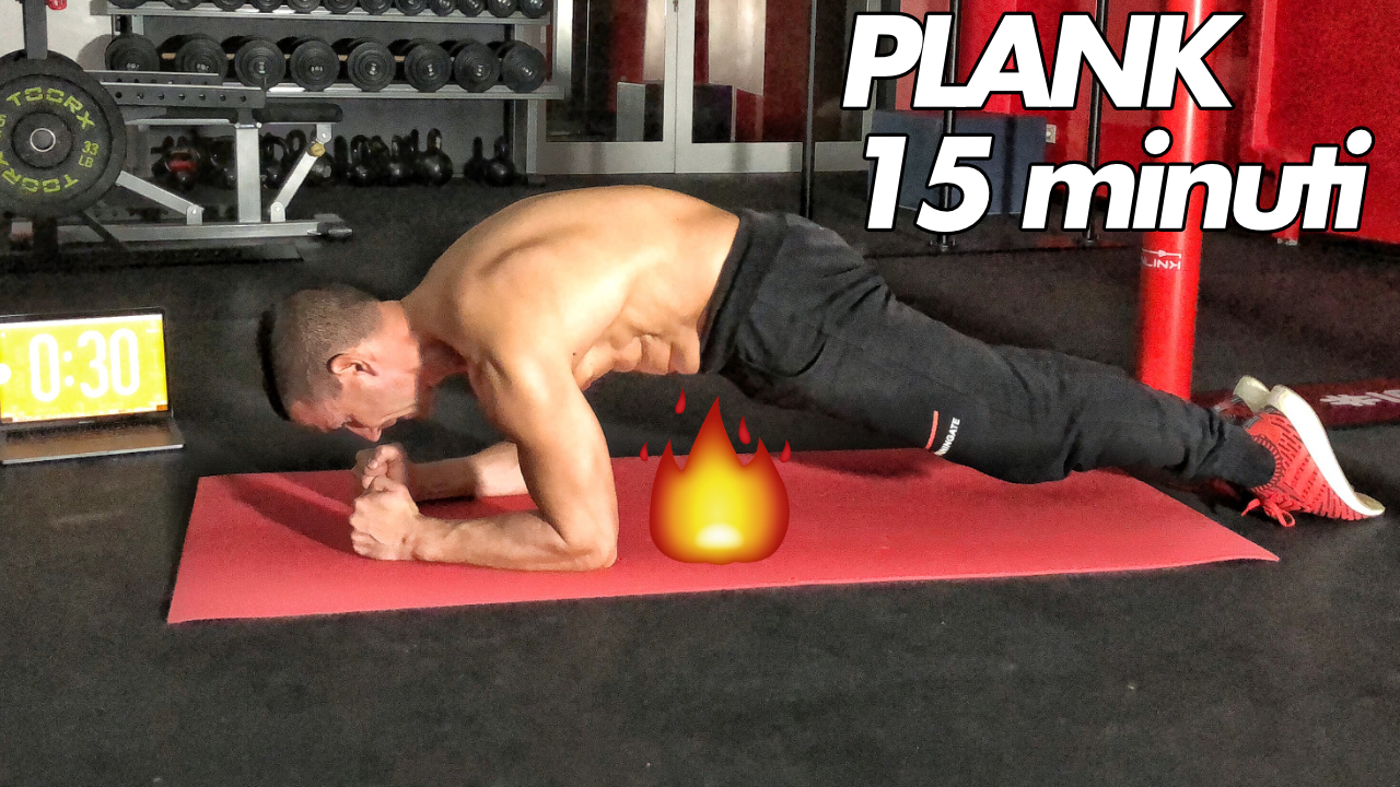 plank in 15 minuti