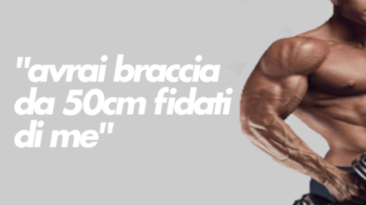 braccia 50 cm truffa coaching online