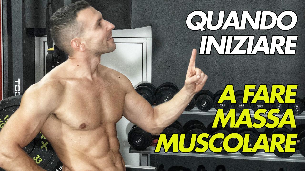 iniziare a fare massa muscolare