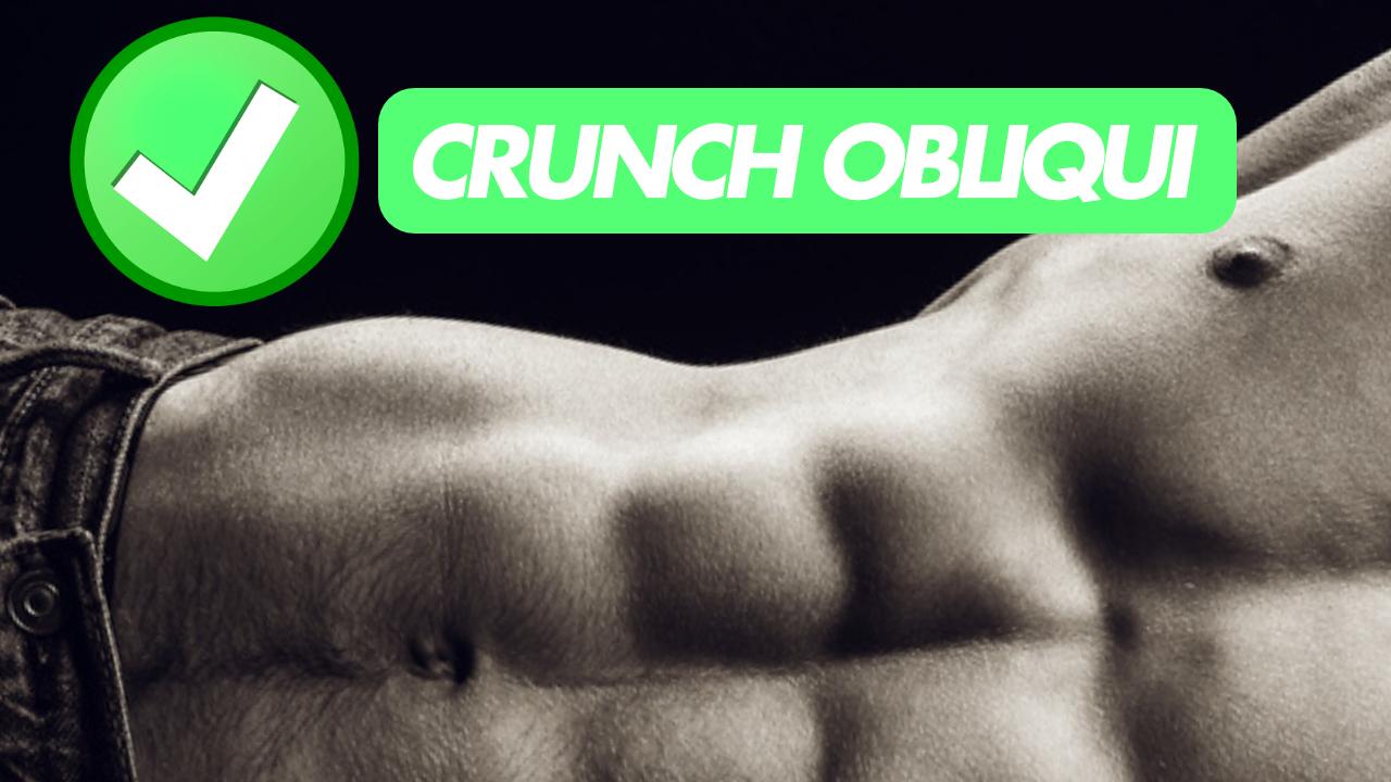 crunch obliqui a terra