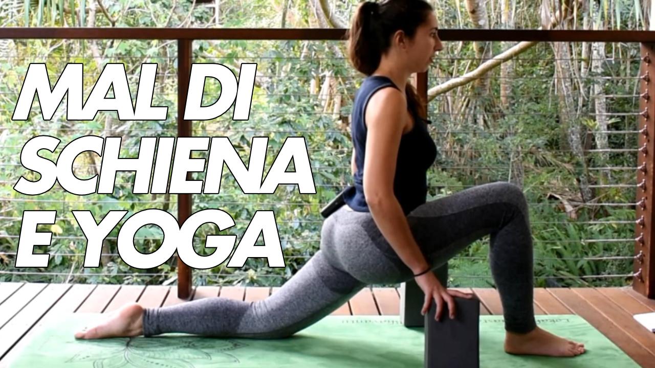 mal di schiena e yoga posture