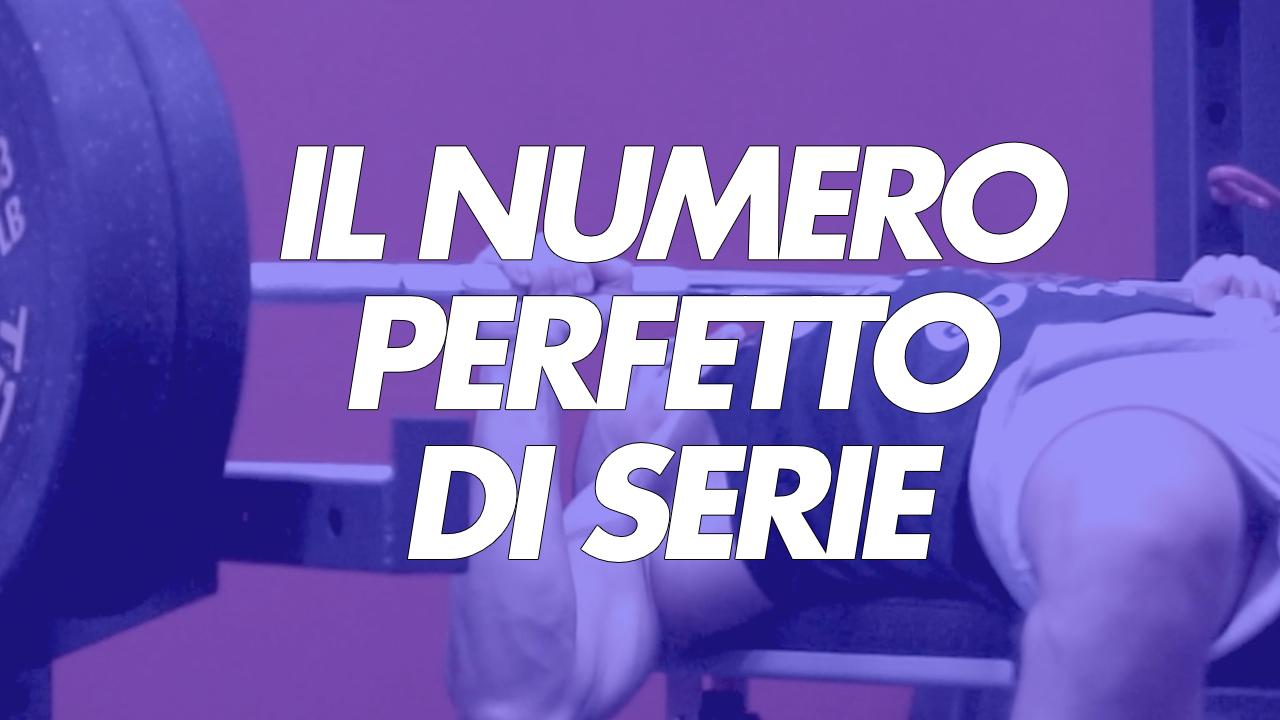 numero perfetto di serie in palestra