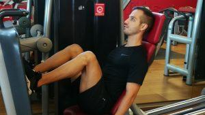 pressa leg press esercizio
