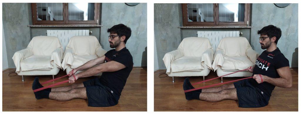 pulley con elastico dorsali