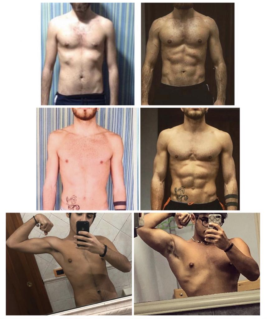 trasformazione corporea uomo
