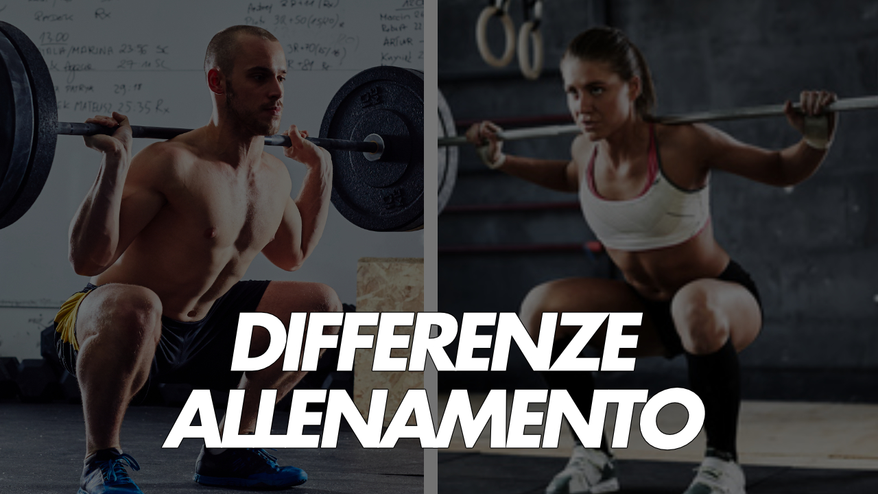 differenze uomo e donna nell'allenamento