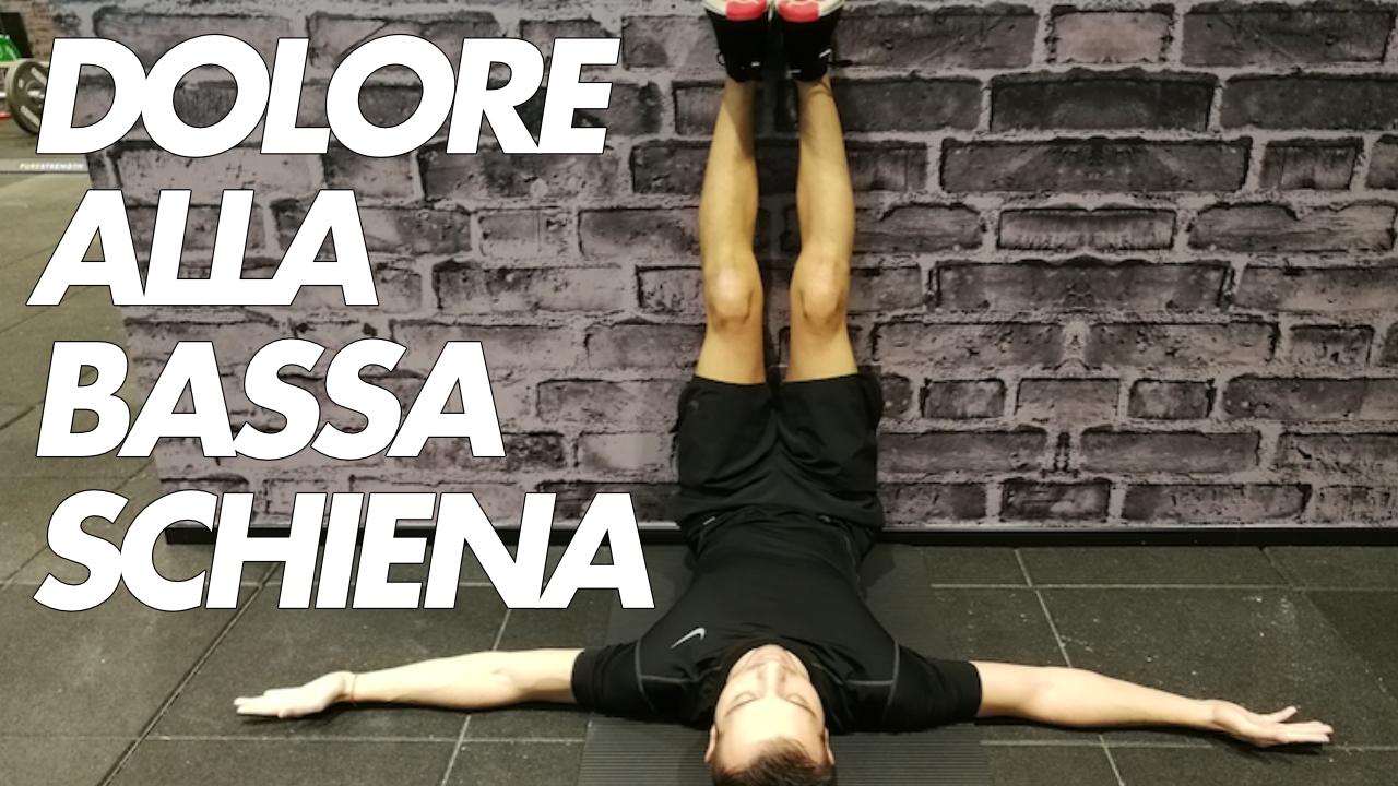 dolore alla bassa schiena esercizio