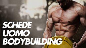 body building schede uomo