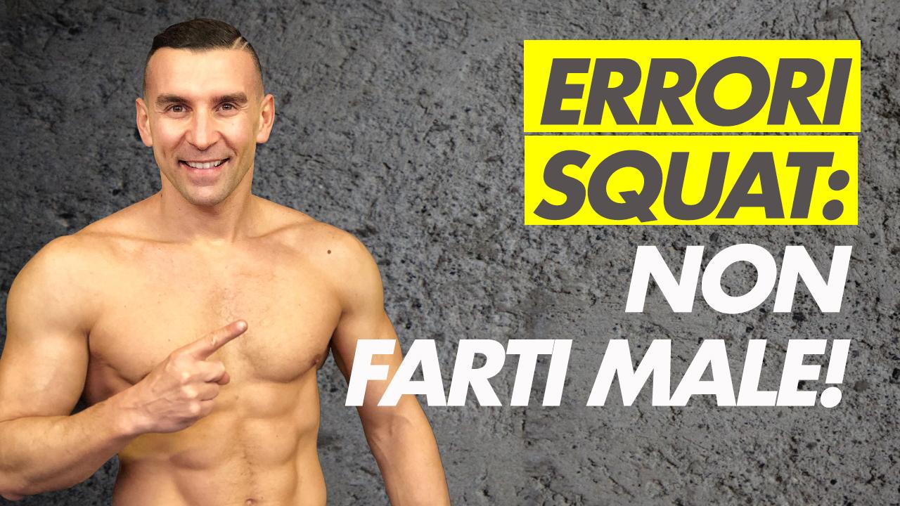 Errori squat