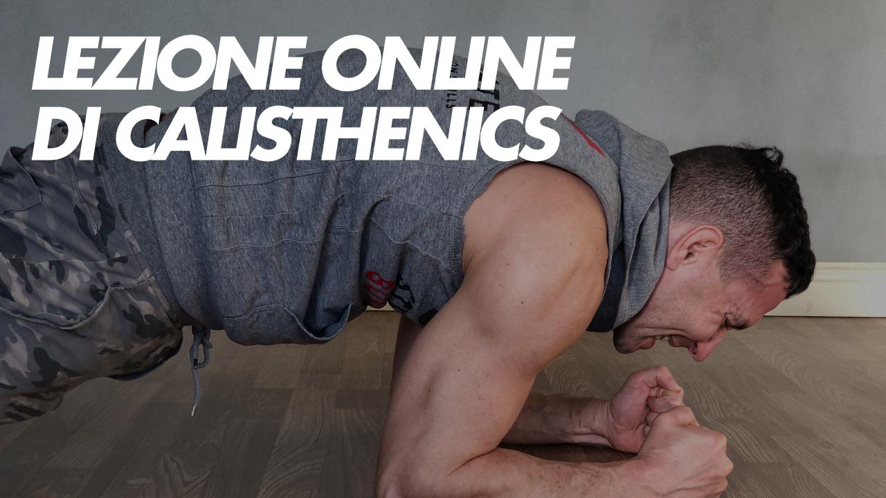 lezione online di calisthenics