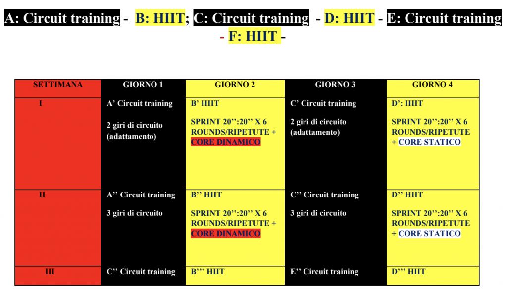 scheda allenamento 2