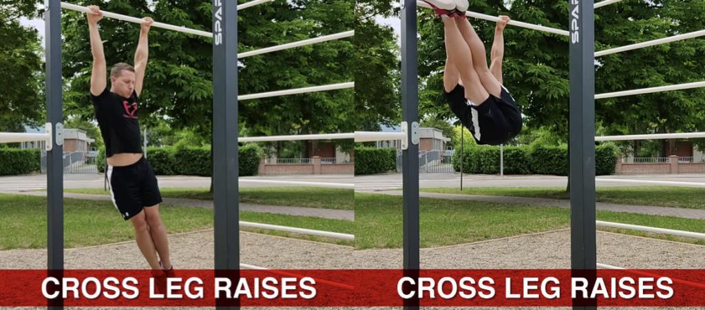 cross leg raises