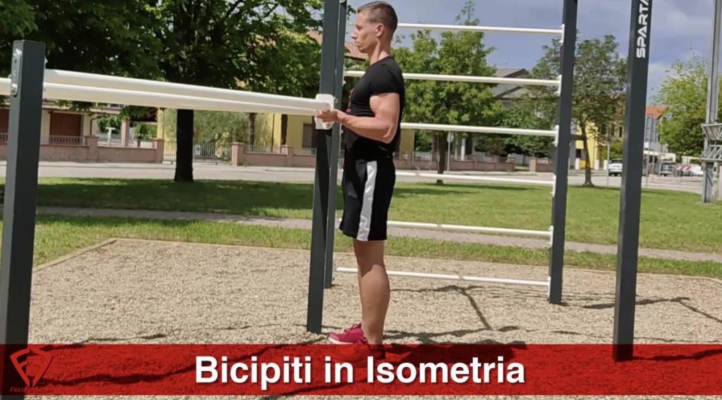 bicipiti in isometria