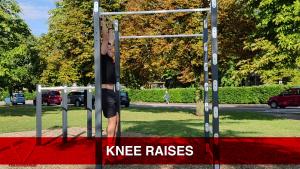 knee raises addominali