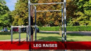 leg raises addominali