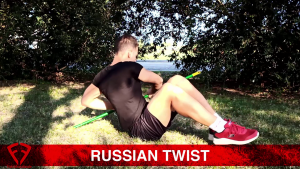 russian twist con scopa