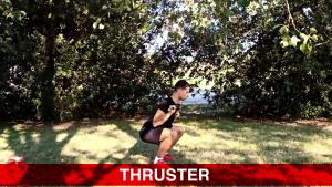 thruster con bastone