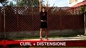 esercizio curl + distensione