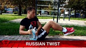 russian twist con peso