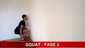 esecuzione squat al muro