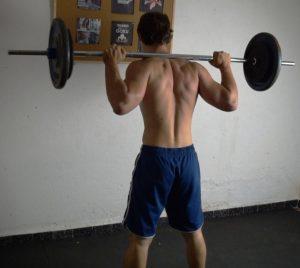 squat con bilanciere