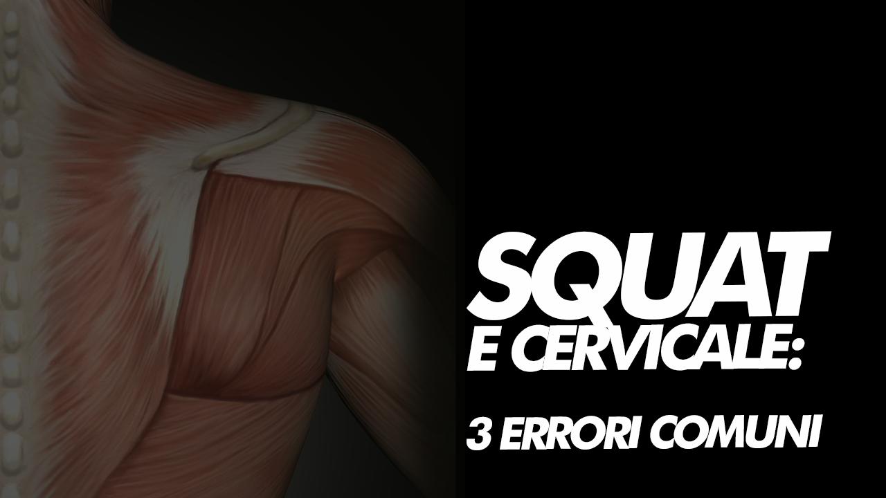 allenamento in palestra e cervicale: squat
