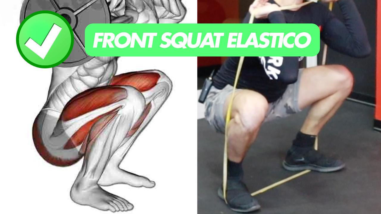 front squat elastico