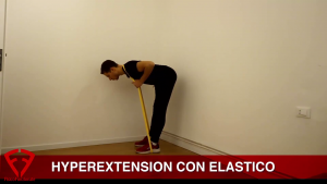hyperextension con elastico
