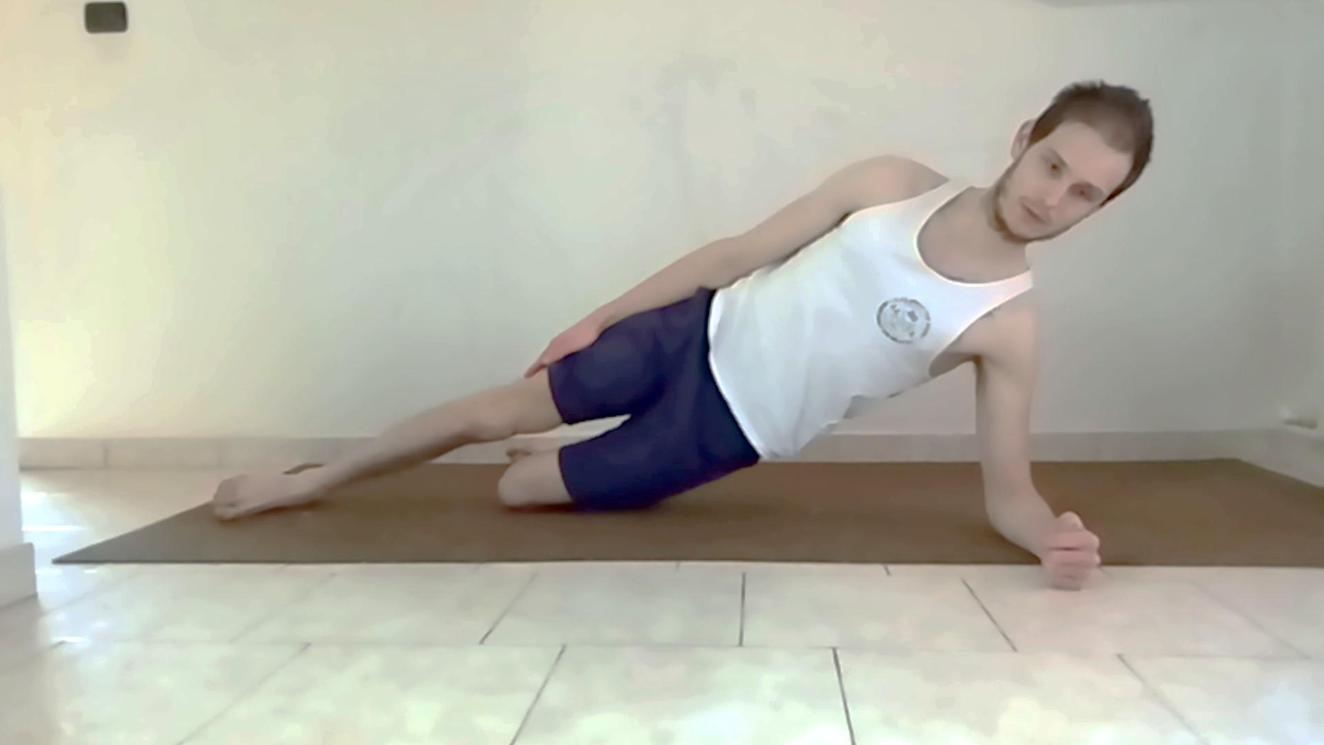 side plank facilitato