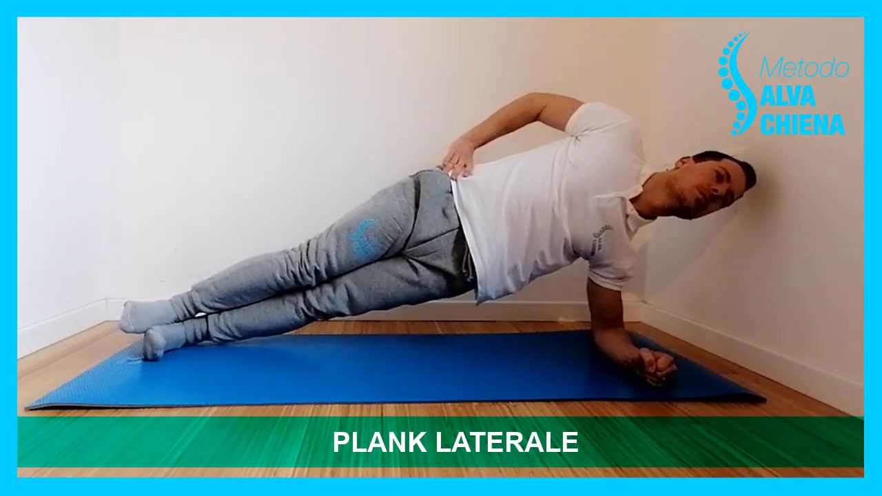 plank laterale salva schiena