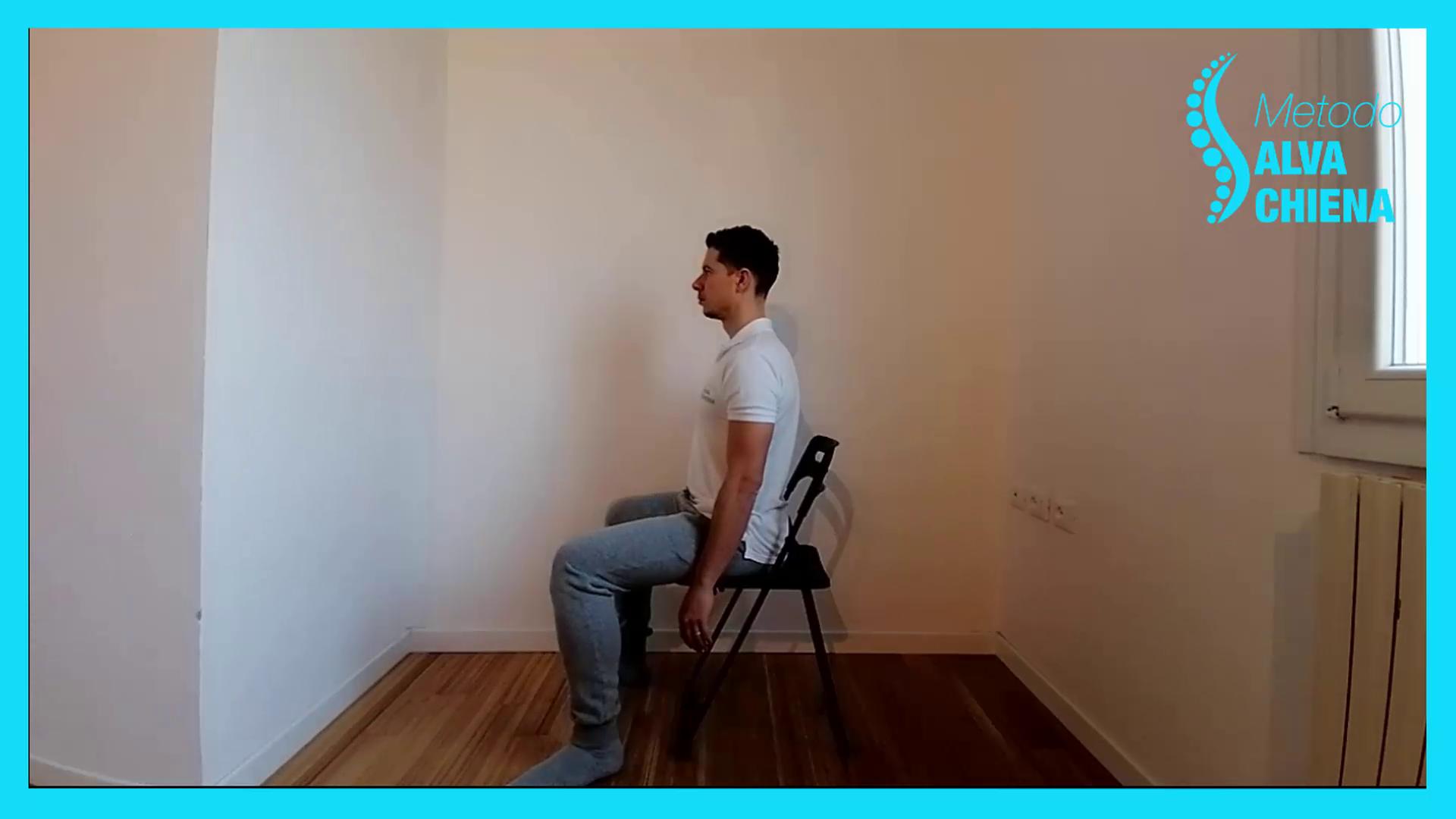 posizione corretta seduto