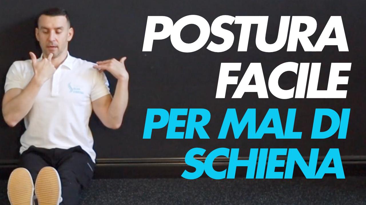 schiena postura