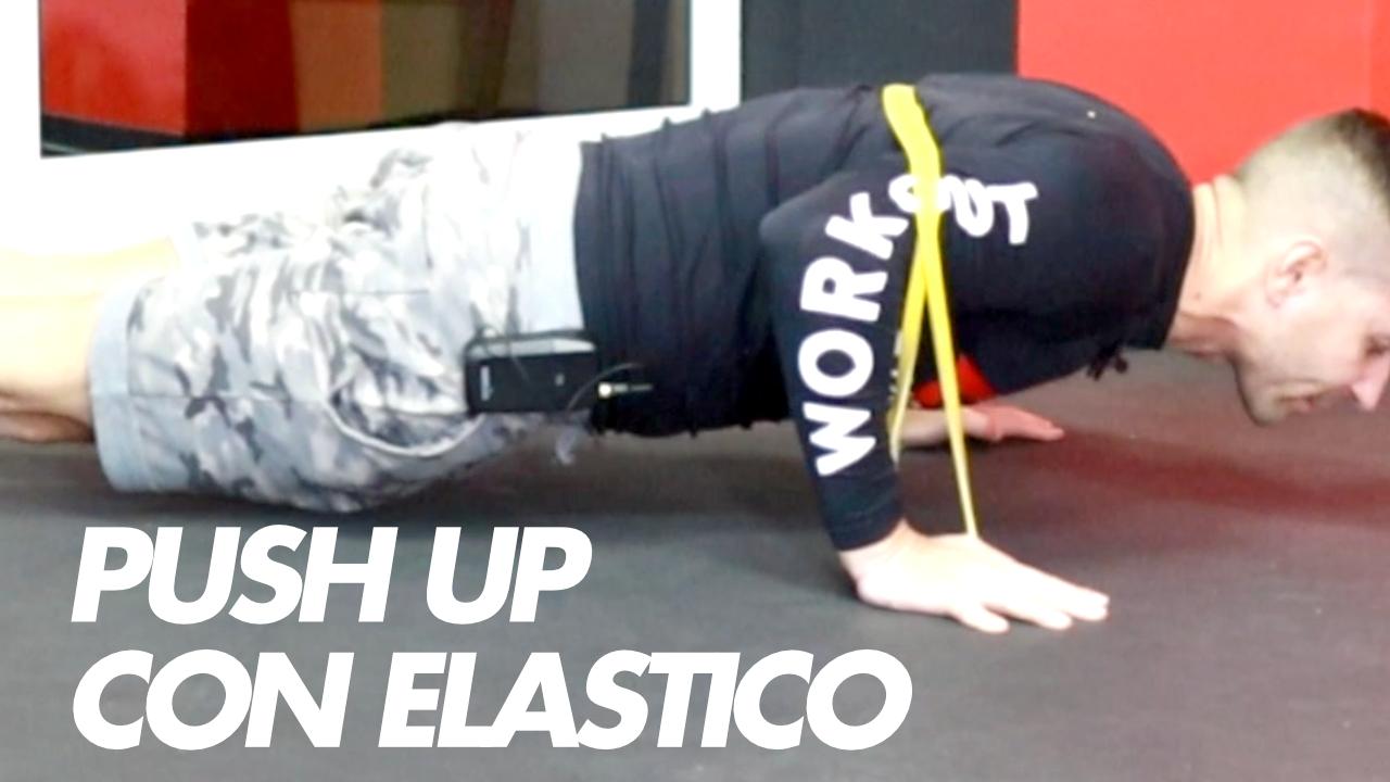 piegamenti braccia elastico