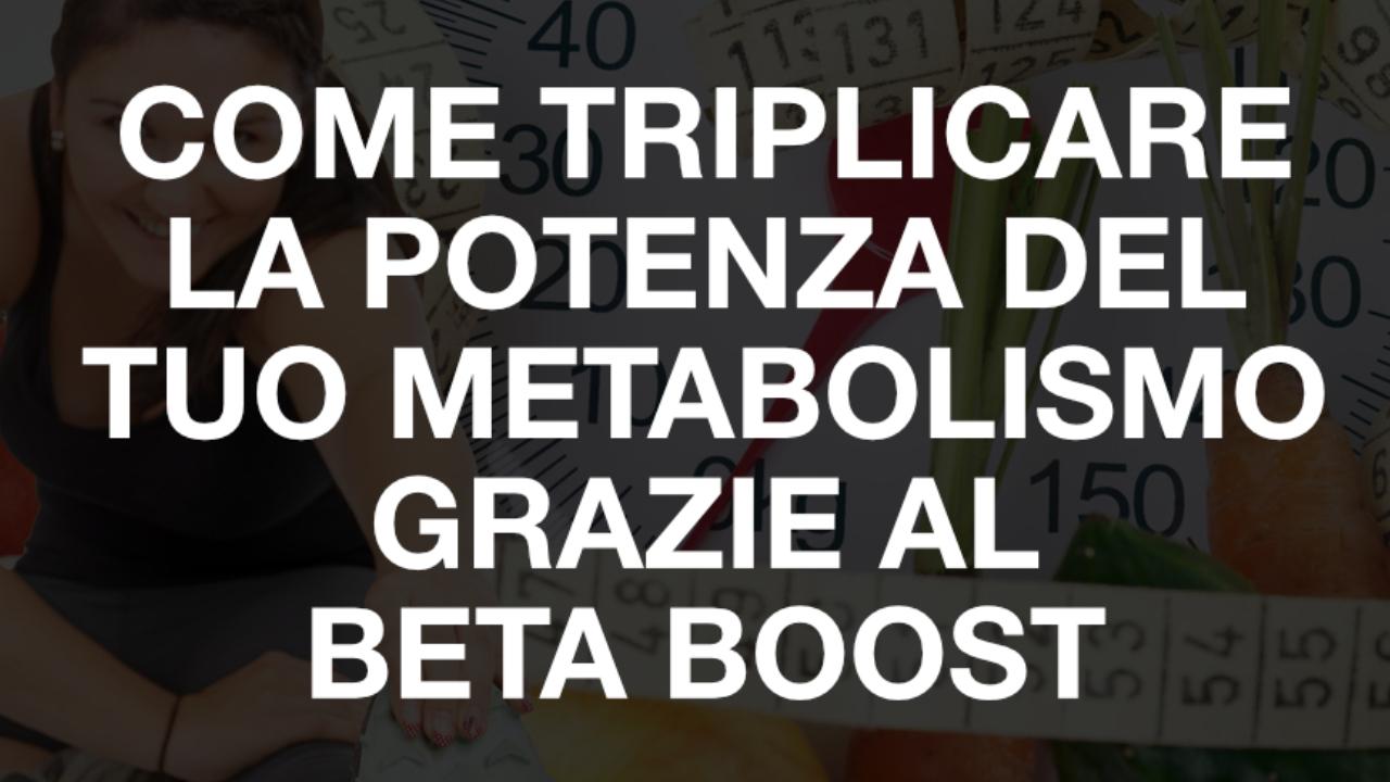 triplicare il metabolismo