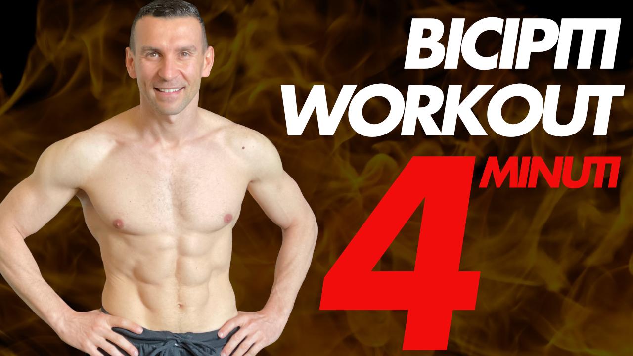 workout 4 minuti bicipiti