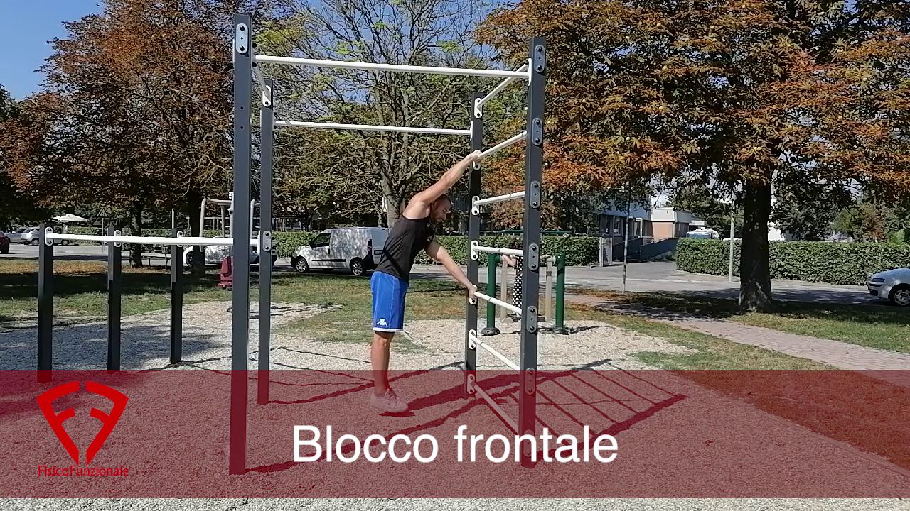 blocco frontale human flag