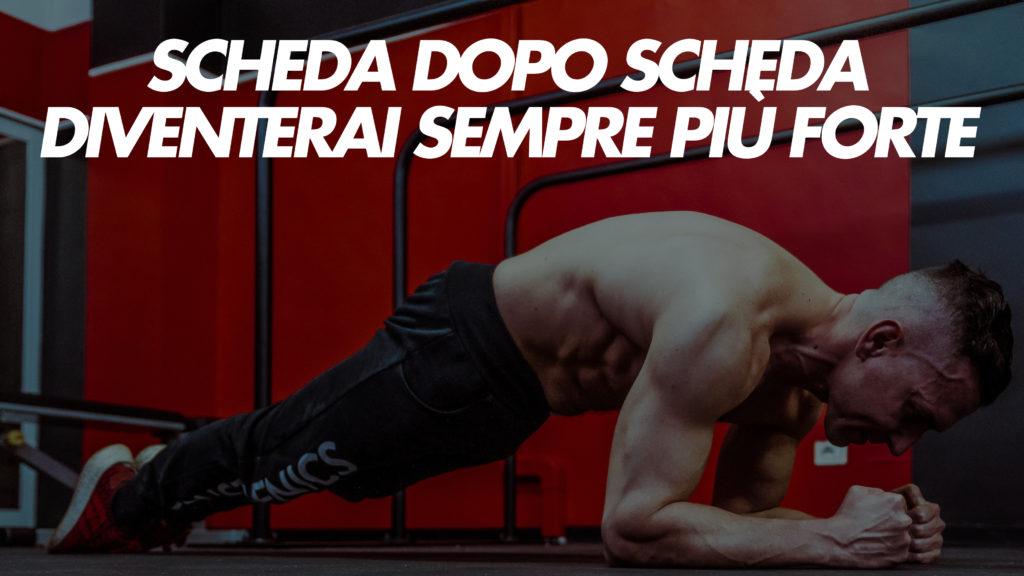 massa a corpo libero schede allenamento
